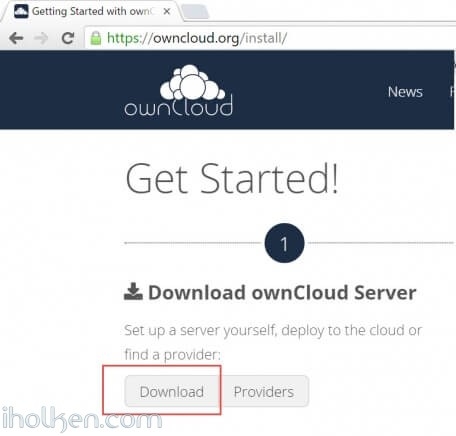 Download Owncloud server files