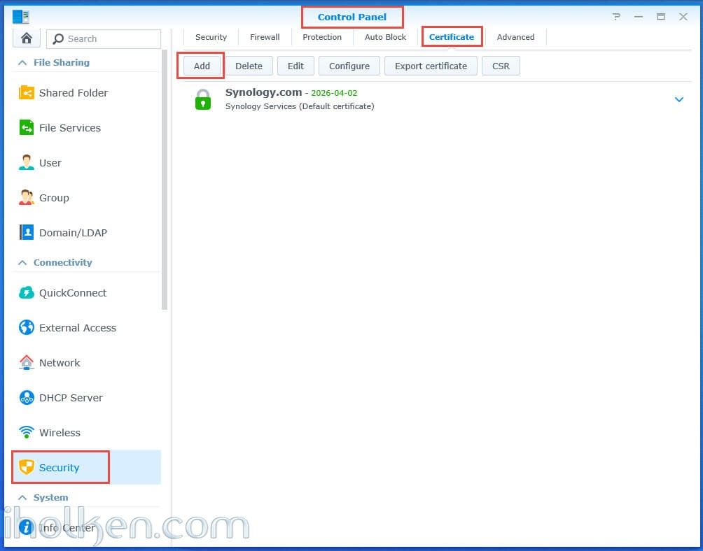 Enable trusted HTTPS connection to Synology NAS websites