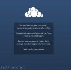 Maintenance Notification login page