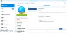Enable Synology Web Station