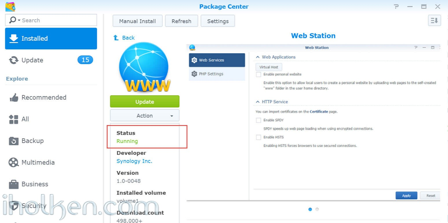 Upgrade Owncloud 9 0x to 9 1 in Synology NAS running DSM6